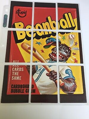 1974 Opc Wacky Packages 3Rd Series Set And Super Rare White Back Puzzle Complete