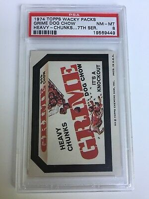 """1974 Topps Wacky Packages 7Th Series Pulled Grime """"Heavy Chunks"""" Psa 8 Nm-Mt :-)"""