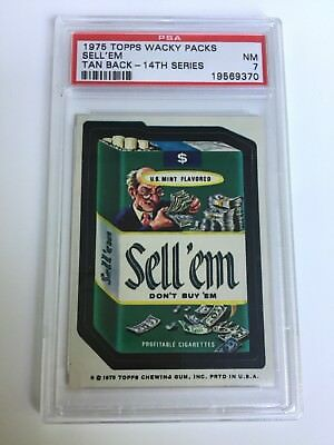 1975 Topps Wacky Packages 14Th Series Tb Sell'Em Sticker!! Psa Grade 7 Nm!!