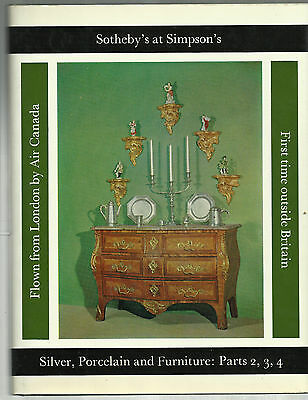 Vintage Catalog of Historical CANADIAN SILVER from Victorian era; furniture too