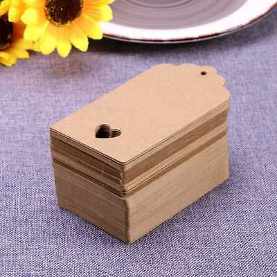 DIY Blank Kraft Paper Hang Tags Luggage Wedding Party Favor Label Gift Cards AU