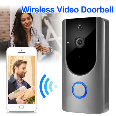 Smart Wifi Doorbell Wireless HD Video Camera Ring Motion Detection Silver AH411