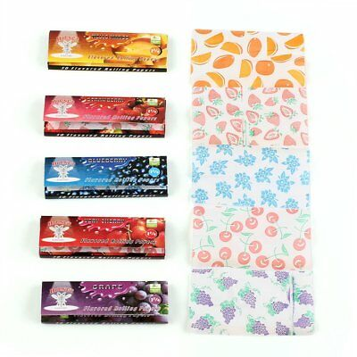 5pcs Fruit DIY Flavored Smoking Cigarette Hemp Tobacco Rolling Papers 250 Leaves