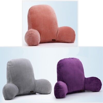 Plush Cushion Bed Rest Lounger Neck Back Support Arm Backrest Relax Pillow Top