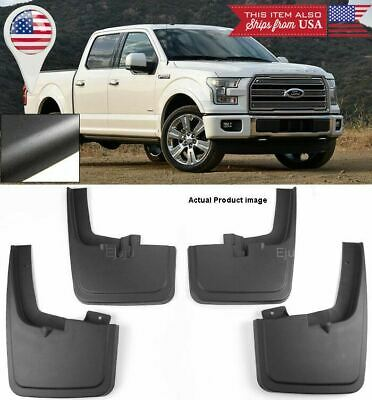 For 2004-2014 F-150 Mud Flaps Ford Front and Rear SET Splash Guards w//o Flares