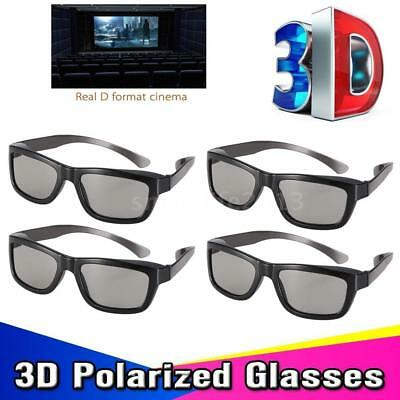 4PCS High Quality Passive 3D Glasses For TV Real D Movie Home Theater Cinemas