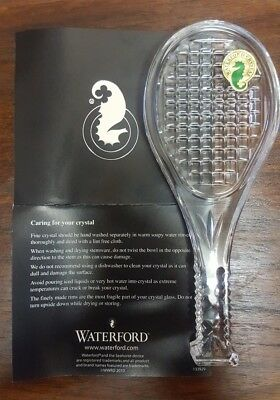Waterford Crystal Wimbledon Tennis Racquet Paperweight Exc Condition + Box