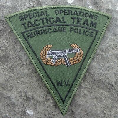 "Special Operations Tactical Team Hurricane Police West Virginia 5"" Patch"