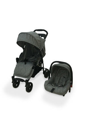 Babyco Orion Travel System & Car Seat Suitable from birth - Free Raincover- Grey