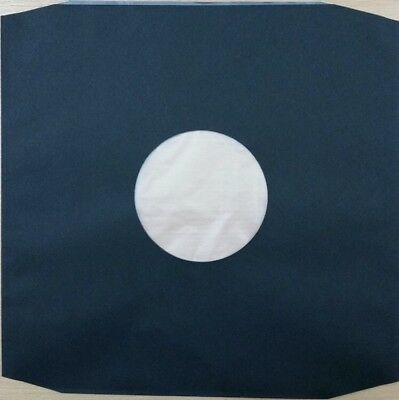 "100 X High Density BLACK 12"" Poly Lined Inner Record Sleeves 110 Gr Anti-Static"