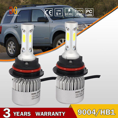 2x 9004 HB1 72W 16000LM LED Headlight Hi-Lo Beam Bulbs Replacement of XENON HID
