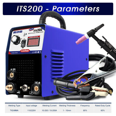 Welding machine 2in1 Stainless/Carbon 200AMP TIG/MMA Welder & Tig torch 110/220V