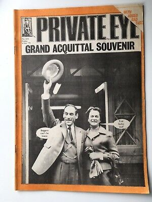 Jeremy Thorpe Private Eye Edition 458 July 1979 - 'Grand Acquittal Souvenir'