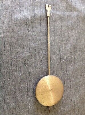 Antique Clock Pendulum 58g 68mm Diameter 240mm Long