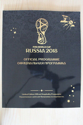 2018 Fifa World Cup Tournament Programme + (Final Programme) Fifa Official