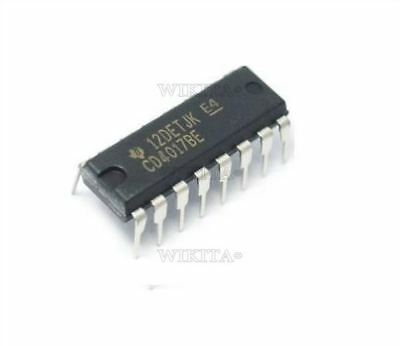 10Pcs Texas Instruments - CD4017 - CD4017BE - Decade Counter Ic New go