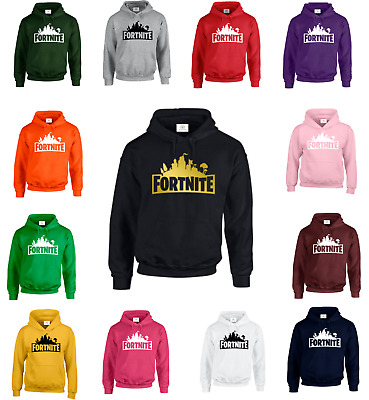 FORTNITE Hoodie Hoody Sweat Kids Adults Battle Royale Gaming Xbox PS4 PC Gamers