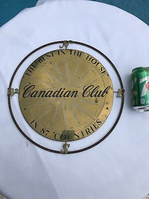 """Canadian Club Bar Sign Etched Metal """"the Best In The House"""" Kay Grand Rapids Mi"""