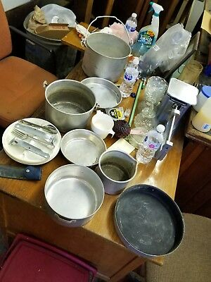 Vintage Boy Scout Mess Kit, 1960's Camping Gear with EXTRAS