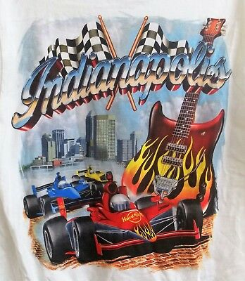 Hard Rock Cafe Indianapolis City T-Shirt Adult M Medium Indiana New with Tags