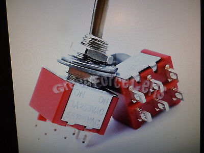 High Quality 6 Pin Dpdt On = On 2 Position Miny Toggle Switch