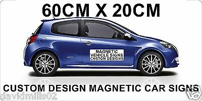 Magnetic Vehicle Signs for Vans, Cars, Trucks 60 x 20cm