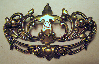 "Ornate Antique Brass Handle Bale Drawer Pull Handle 3"" Center Bore Quality NIP"