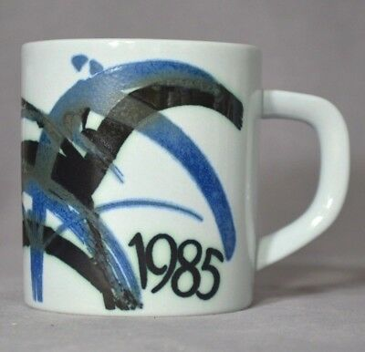 ROYAL COPENHAGEN 1985 Small Annual Faience Mug by Ivan Weiss