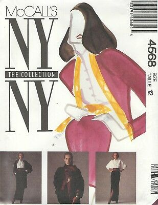 McCall's 4568 Misses' Jacket, Blouse, Skirts and Cummerbund  Sewing Pattern