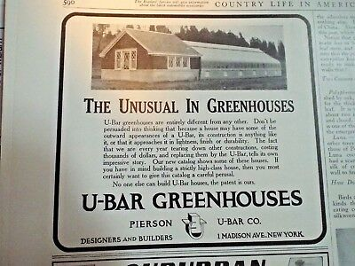 1910 ==  U-Bar Greenhouses Madison Ave New York ad Country Life in America