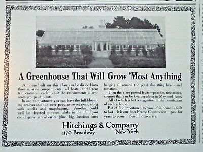 1910 ==  Hitchings &Co Greenhouses Broadway New York ad Country Life in America