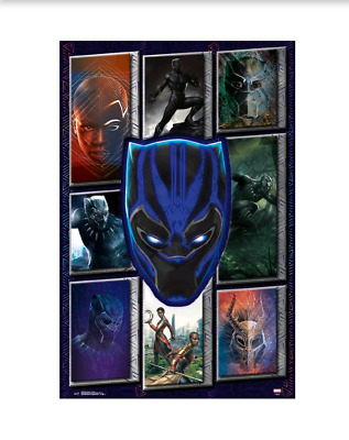22x34 MARVEL COMICS 16059 MOVIE COLLAGE POSTER BLACK PANTHER