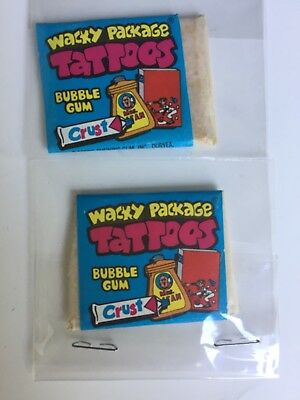 1974 Topps Wacky Packages Tattoo Packs (2) Very Cool!!