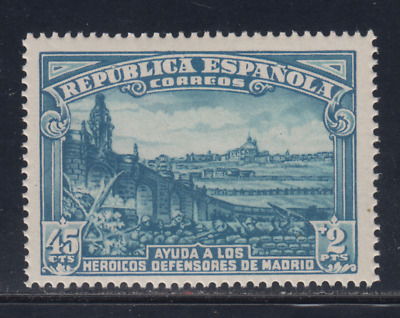SPAIN (1938) NEW FREE STAMP HINGES MNH SPAIN - EDIFIL 757 (45 cts + 2 pts)