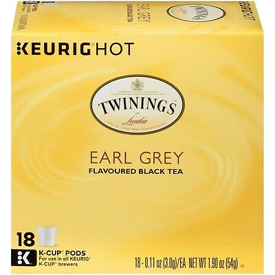 Twinings of London Earl Grey Tea 18 to 108 Count Keurig K cups Pick Any Quantity