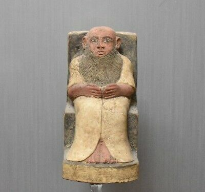 ANCIENT ANTIQUE Egyptian Colored statue of limestone THE PRIEST 1500–300BC