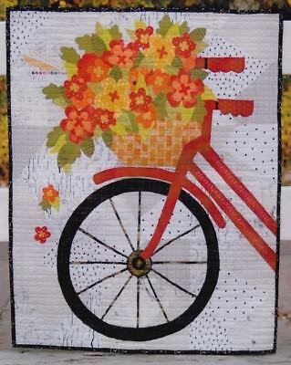 Blossoms & Spokes - fun pieced & applique quilt PATTERN - Abbey Lane