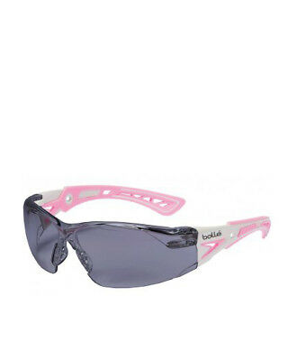 NEW Bolle Rush Plus Small Safety Glasses Smoke Lens