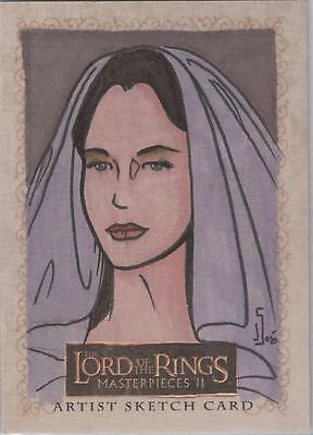 """Lord of the Rings Masterpieces II - Jamie Snell """"Arwen"""" Sketch Card"""