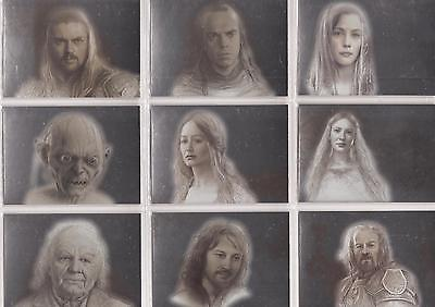 """Lord of the Rings Masterpieces II - """"Silver Parallel"""" Set of 9 Chase Cards #1-9"""