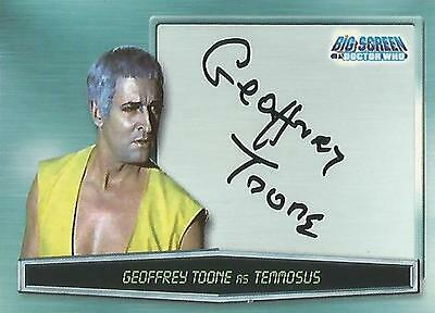 """Doctor Who Big Screen - A13 Geoffrey Toone """"Temmosus"""" Autograph Card"""