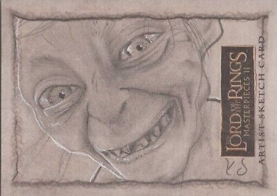 """Lord of the Rings Masterpieces II - Kevin Doyle """"Gollum"""" Sketch Card"""