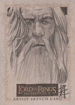 """Lord of the Rings Masterpieces II - Patrick Richardson """"Gandalf"""" Sketch Card"""
