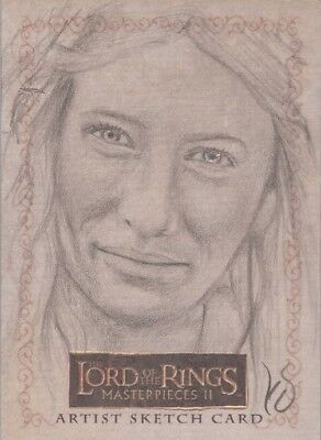 """Lord of the Rings Masterpieces II - Kevin Doyle """"Galadriel"""" Sketch Card"""