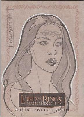 """Lord of the Rings Masterpieces II - Dalla Vecchia """"Arwen"""" Sketch Card"""