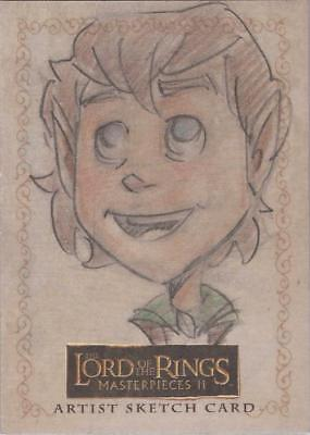 """Lord of the Rings Masterpieces II - Paul Gutierrez """"Frodo"""" Sketch Card"""
