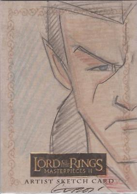 """Lord of the Rings Masterpieces II - Paul Gutierrez """"Elrond"""" Sketch Card"""