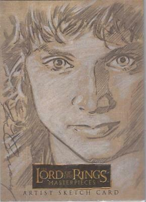 """Lord of the Rings Masterpieces - Joe Corroney """"Frodo"""" Sketch Card"""