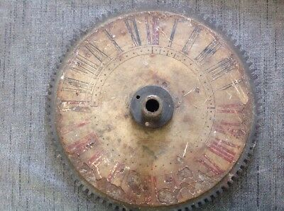 Antique Clock Hour Wheel With Dial Face 209mm Diameter
