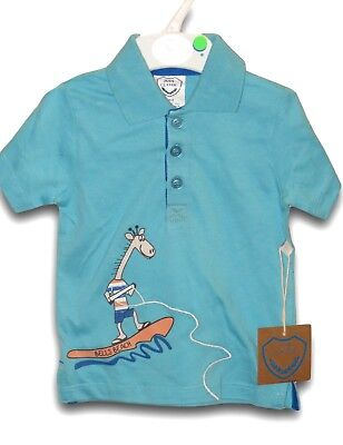 New JUST CLASSIC Shirt ~ Boys 0 ~ Bells Beach Polo Shirt Buttons ~ rrp $24.95